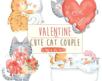 valentine clipart ,valentine clip art ,valentines day decor,valentine clip art cat ,cute valentine clip arts, Cute cat clipart,, handdrawn