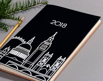 Recycled Leather A5 Diary/Planner 2018