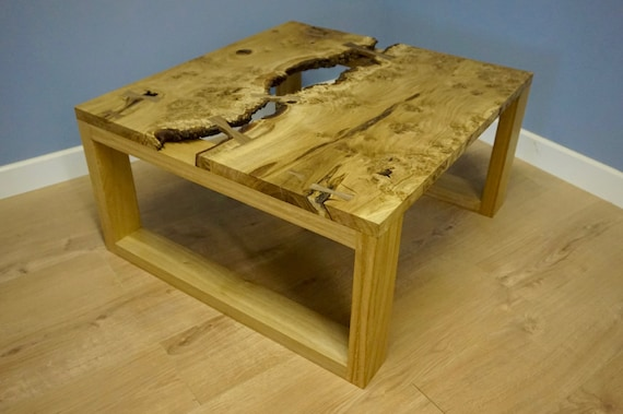 Oak Burr Coffee Table