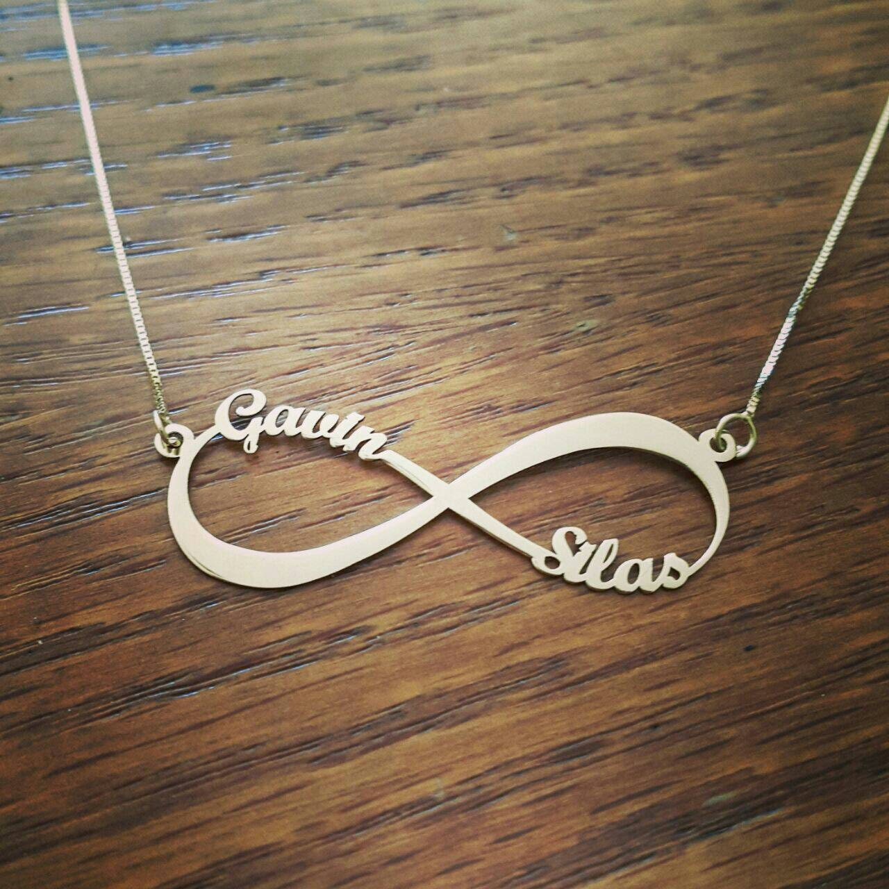 2 names 14k white gold infinity necklace personalized 14k zoom biocorpaavc