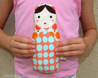 Matryoshka Babushka Russian Baby Cloth Doll - Baby Safe - Child Friendly