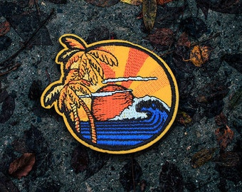 Surfer's Dream Patch / Set Of 2 Patches - Embroidered - Sew On - Jacket Patches | Handmade