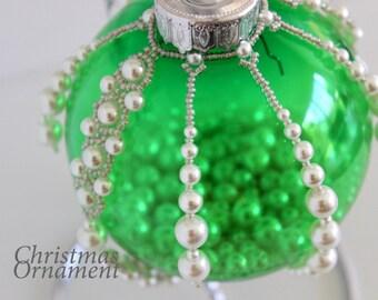 PDF tutorial Beaded christmas ornament_seed beads_beads_beading_pattern