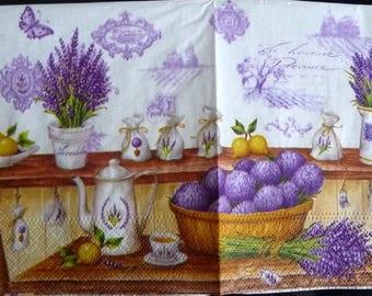 Paper bouquets of provence Lavender towel 2