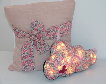 LED night light cloud liberty Wiltshire sweet pea, customizable with name