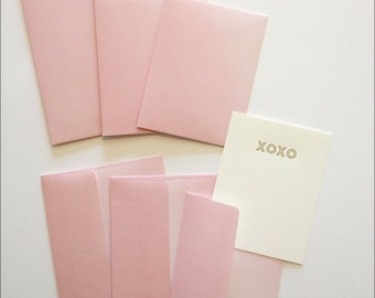 Envelopes - Ombre Blush Square Flap Envelopes - A2, A6 and A7 Sizes - Pack of 20 paper envelopes