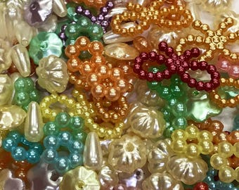 Mixed lots pearl beads-pearl beads-rainbow beads-beads