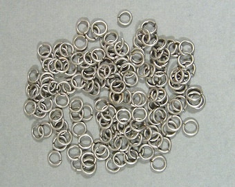 6mm Antique Silver Jump Rings - Choose Your Quantity