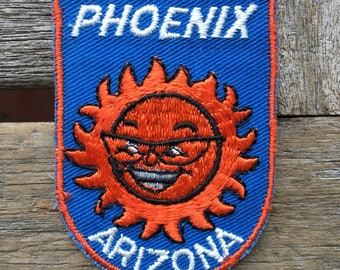 Phoenix Arizona Vintage Souvenir Travel Patch from Voyager