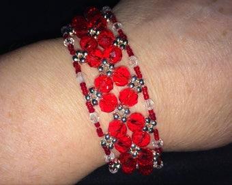 "Handmade Crystal Bracelet 7.5"""