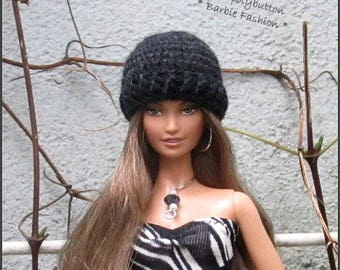 Crochet Barbie Doll Hat, Fashion Doll Hat, Doll Hat, Barbie Clothing, Miniature Hat For Barbie Dolls, Crochet Hat
