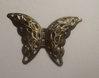 Bronze ButterflyPendant 5 piece set Bronze/Brass/Gold Component Destash