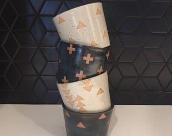 Custom Ceramic Tumbler-set of 4