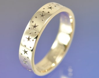 Twinkle Little Star -9k Yellow Gold custom made ring.