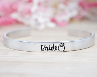 Bride Cuff Bracelet - Bride to Be - Hand Stamped Cuff Bracelet - Wedding Jewelry - Bridal Shower Gift - Bridal Gift - Gifts for Her