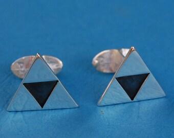 Sterling silver Legend of Zelda Triforce cufflinks