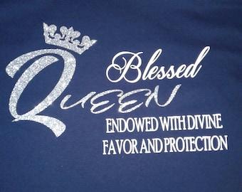 Queen Tshirt, Bling Tshirt, Trendy Tee