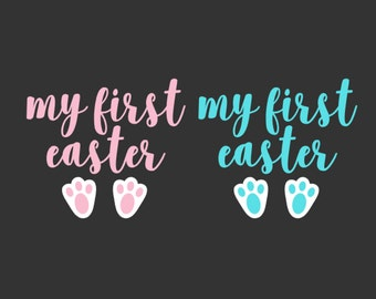 My First Easter SVG, Easter Svg, Bunny Ears SVG, Easter Basket Svg, Bunny Svg, Silhouette Cut Files, Cricut Cut Files, Svg Files