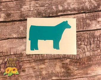 Show Steer Decal . Show Steer . Steer Decal . Personalized Cattle Decal . FFA Steer Decal . 4H Steer Decal . Laptop Decal . Steer Show Box