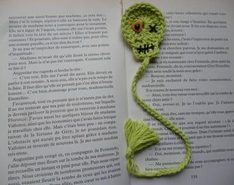Skull bookmark handmade bookmark crocheted bookmark fancy wool crocheted, skull, handmade