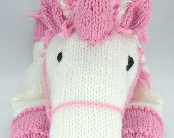 KNITTING PATTERN - Suki the Unicorn Pyjama Case Knitting Pattern Download From Knitting by Post