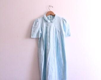 Pale Blue Babydoll Mini Dress