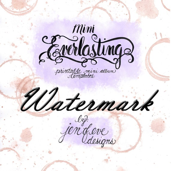 Mini Everlasting Printable Mini album Template in Watermark and PLAIN