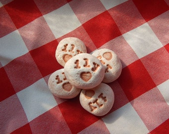 ily Handmade Ceramic Message Stones, Set of 5