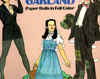 Judy Garland Paper Dolls in Full Color Dorothy Gale Ziegfeld Girl Girl Crazy Harvey Girls Book by Tom Tierney