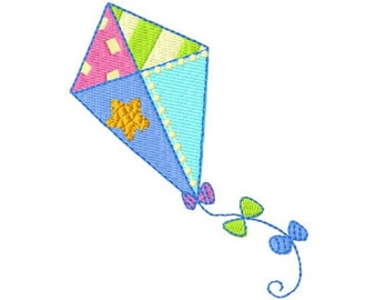 embroidery pattern child 4 x 4 kite for immediate download
