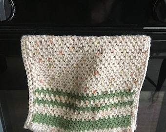 Kitchen Tea Towels and Washcloths - Handmade Crocheted Cotton Towels