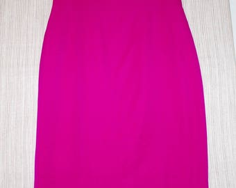 LAVANTINO HOT Pink High  Waist Vintage Pencil Skirt Size:12