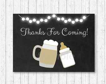 Baby Is Brewing Party Favor Tags / Thank You Tags / Baby Is Brewing Baby Shower / BBQ Baby Shower / BaByQ / Gold / INSTANT DOWNLOAD A116