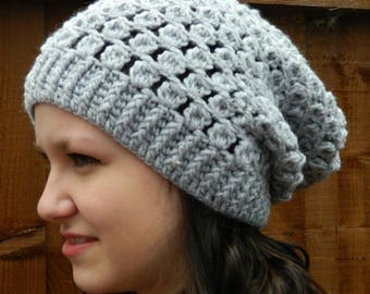 Slouchy Hat in Grey