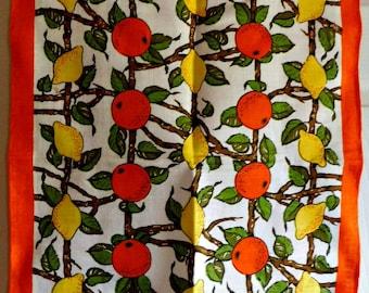 Vintage Orange-Lemon Themed Kitchen Towel-Ulster