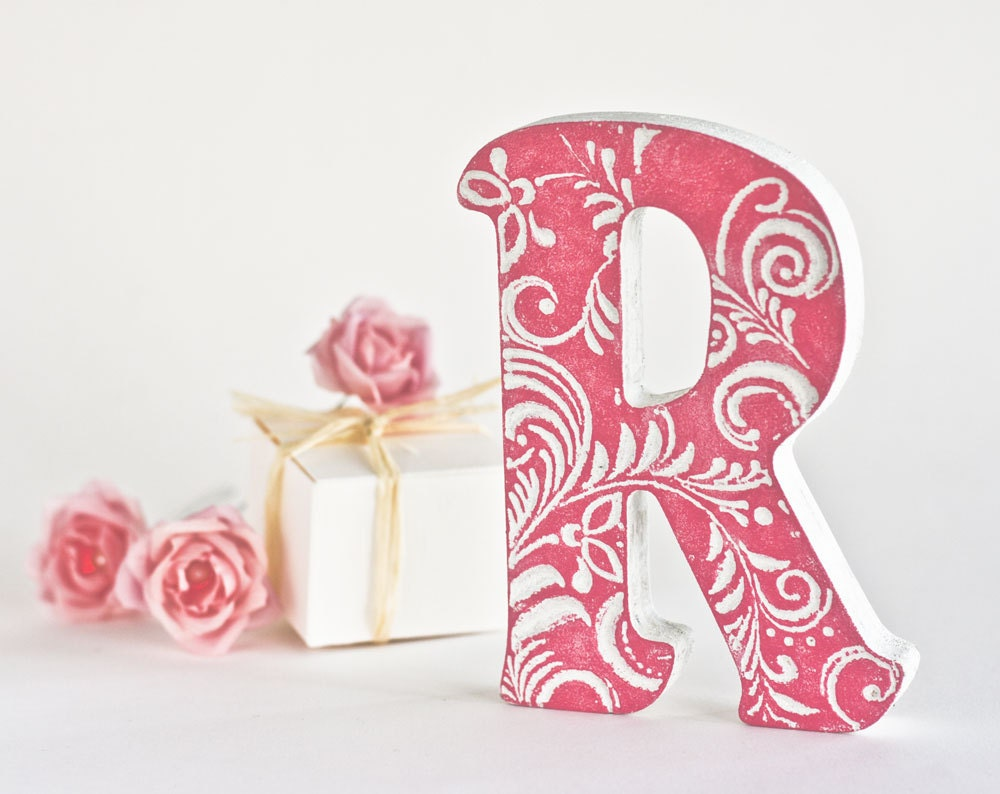 Letter P Wall Decor Letter Gifts Letter Art Wedding Letterwooden Letters For