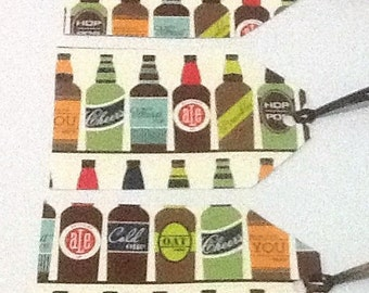 8 Beer Bottles Gift/Thank You Tags