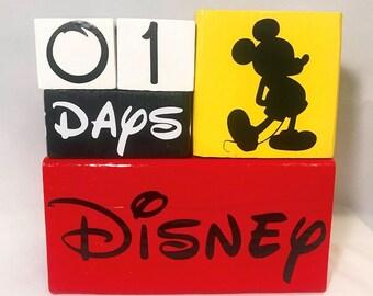 Disney Countdown Block Set - Mickey Mouse Edition