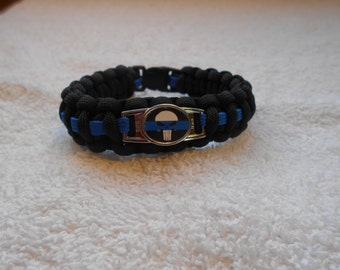 The Punisher Series - Charm # 5 - Paracord Bracelet - Hand Made