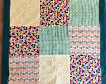 60cm X 60 cm patchwork baby blanket