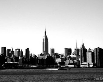 Empire State Building Skyline Photography Print, New York City Wall Art, NYC Cityscape Photo