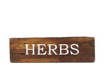 Wood Herb Planter for Outdoor or Indoor Herb Garden - Herbs Box - Reclaimed Wood