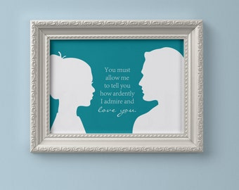 Jane Austen Pride and Prejudice Poster Print
