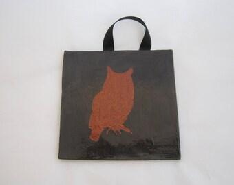 Ceramic Black Owl Tile