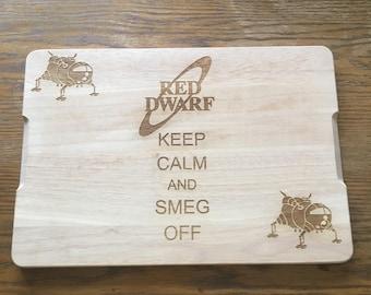 Red Dwarf inspired chopping board