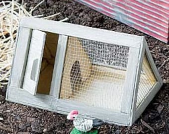 Fairy Garden Chicken Coop - Includes one chicken