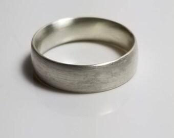 Brushed Satin Comfort Fit Silver Wedding Band, Affordable Wedding Rings, Rustic Wedding rings, handmade wedding rings