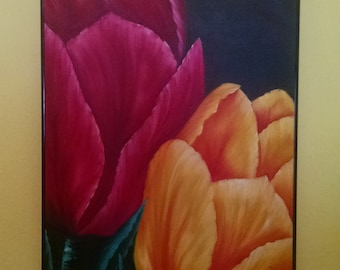 Spring Tulips Everywhere oil painting