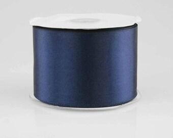 7/8 x 25  yards NAVY BLUE  Satin Ribbon