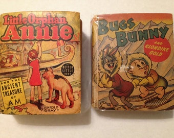 Vintage 2 Better Little Books-Bugs Bunny & Porky Pig - Little Orphan Annie 1939